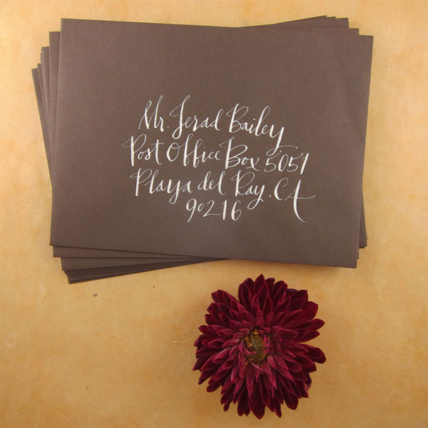 calligraphy wedding envelopes